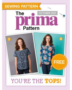 Boxy top with pockets - Prima Pattern (Oct 21)