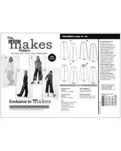 Prima Makes Trouser Pattern