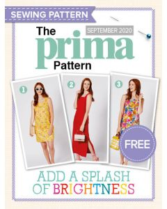 Loose-fitting sleeveless shift dress - Prima Pattern (Sep 20)