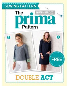 Two-in-one shift dress and top - Prima Pattern (Sep 21)